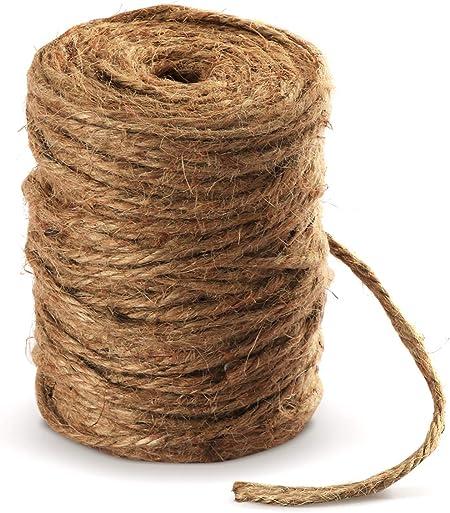Absofine - Cuerda de yute para jardín (100 m, 4 mm, para manualidades): Amazon.es: Hogar