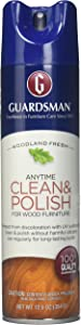 Guardsman Clean & Polish For Wood Furniture - Woodland Fresh - 12.5 oz - Silicone Free, UV Protection - 460700