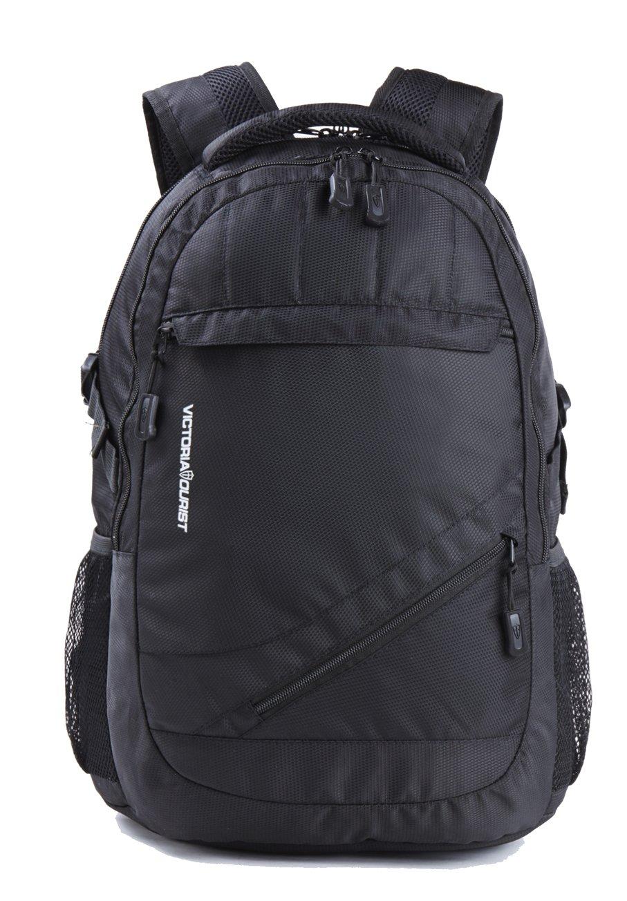 60db38124cd0 Victoriatourist V8001 Laptop Backpack College Bookbag Business Travel Bag  Hiking Nylon Rucksack for Men Women Fits MacBook Air, Black