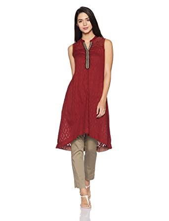 Rangriti Women's A-Line Kurta Kurtas & Kurtis at amazon