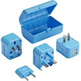 Lewis N Clark Adapter Plug Kit with 2.1a Dual USB Charger