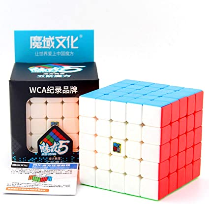 Pro MFJS Meilong 5X5 Stickerless Speed Moyu Mofang Jiaoshi 5X5X5 Magic cube