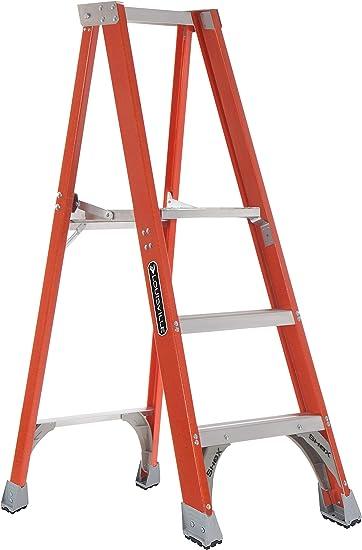 Louisville Escalera Fibra de vidrio escalera plataforma, 3-Feet, índice de trabajo 300-Pound: Amazon.es: Bricolaje y herramientas