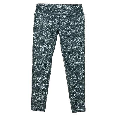 32 DEGREES Cool Weatherproof Ladies Active Yoga Legging Pant, Black Swirl Print