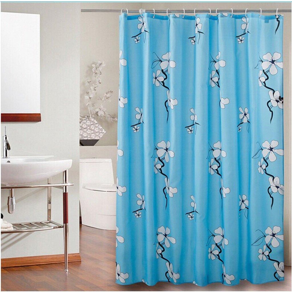 Curtain Bathroom Shower Curtain, partition Thickening Bathroom Insulation Curtain, Mildew Waterproof Shower Curtain Shower Equipment (Size : 180200cm)