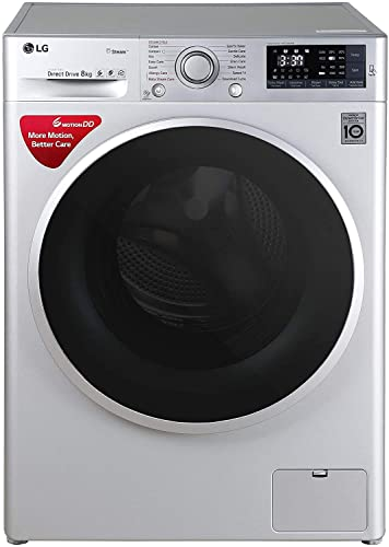 LG 8 kg Inverter Wi Fi Fully Automatic Front Loading Washing Machine  FHT1408SWL, Luxury Silver  Washing Machines   Dryers