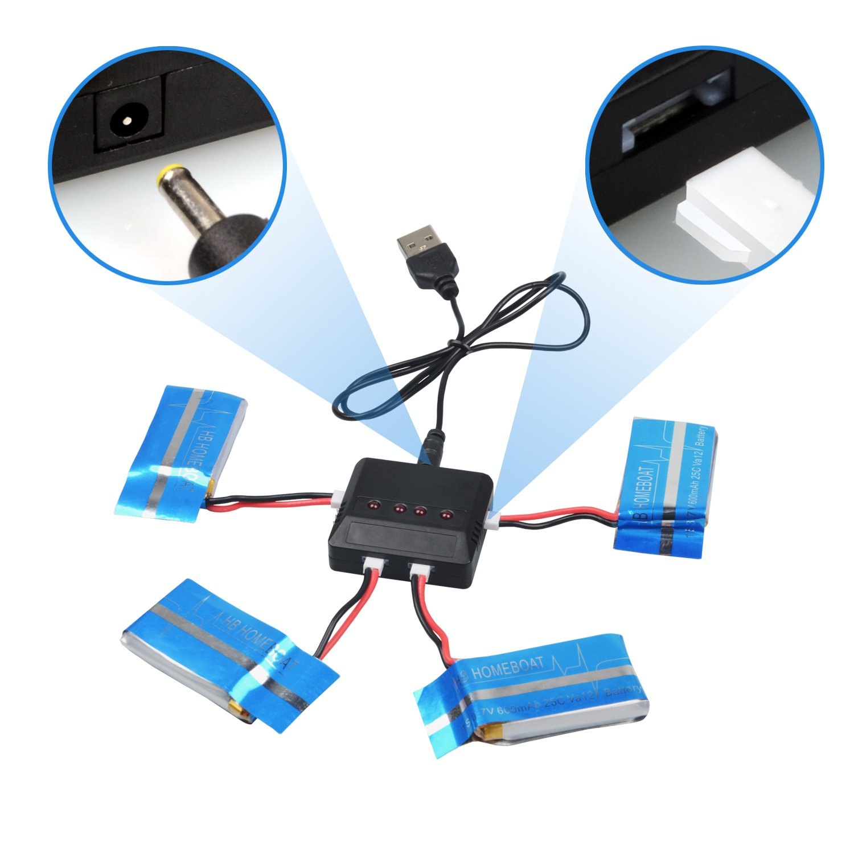 KingSo-4X 3.7V 600mAh de batería para Syma Actualiza X5c X5 ...