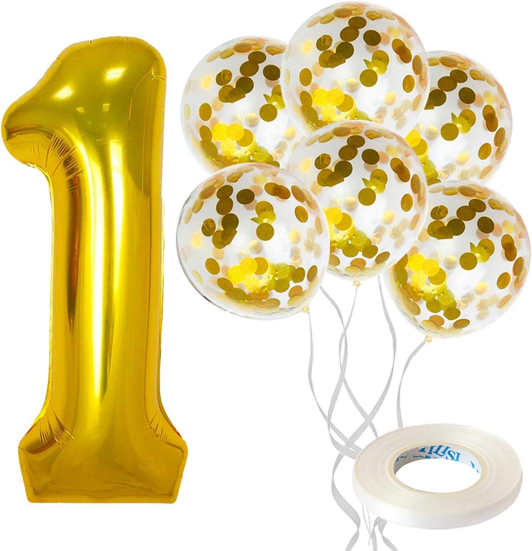 Mylar Balloons Letter Balloon ONE unicorn balloons Rose Gold Balloons Party Balloons birthday 1st Gold Silver Letters shower Balloon