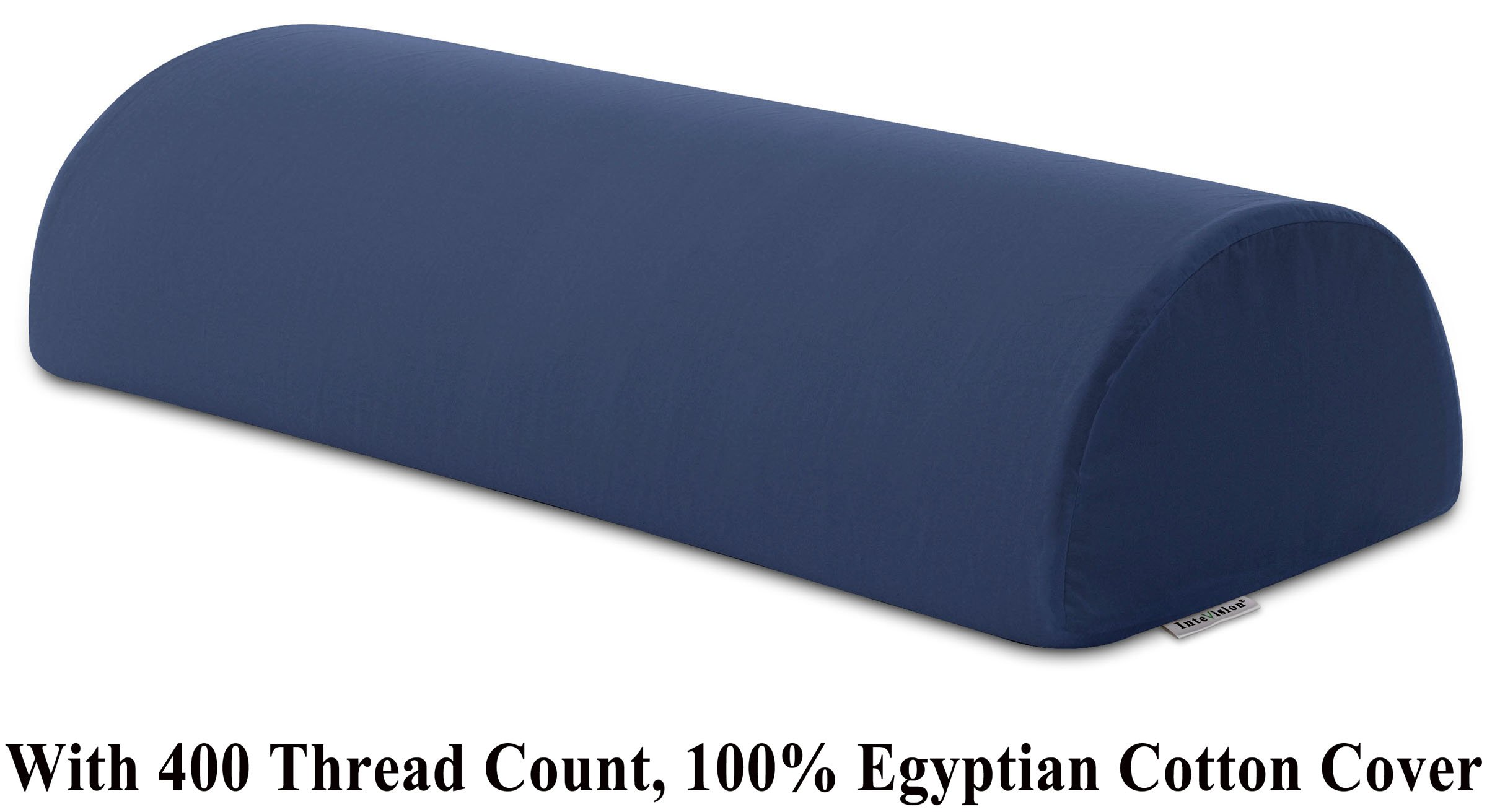 InteVision Four Position Support Pillow (20.5'' x 8'' x 4.5'') with, 400 Thread Count, 100% Egyptian Cotton Cover