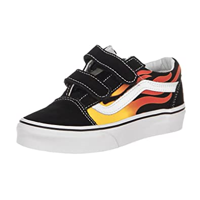 566110210f Vans UY Old Skool V Flame Black (3 UK)  Amazon.co.uk  Shoes   Bags
