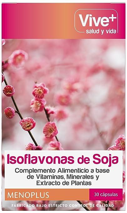 Vive+ Isoflavonas de Soja - 3 Paquetes de 30 Cápsulas: Amazon.es: Salud y cuidado personal