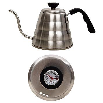 Java Maestro acero inoxidable cuello de cisne kettle- Premium 1.2L grandes para más de