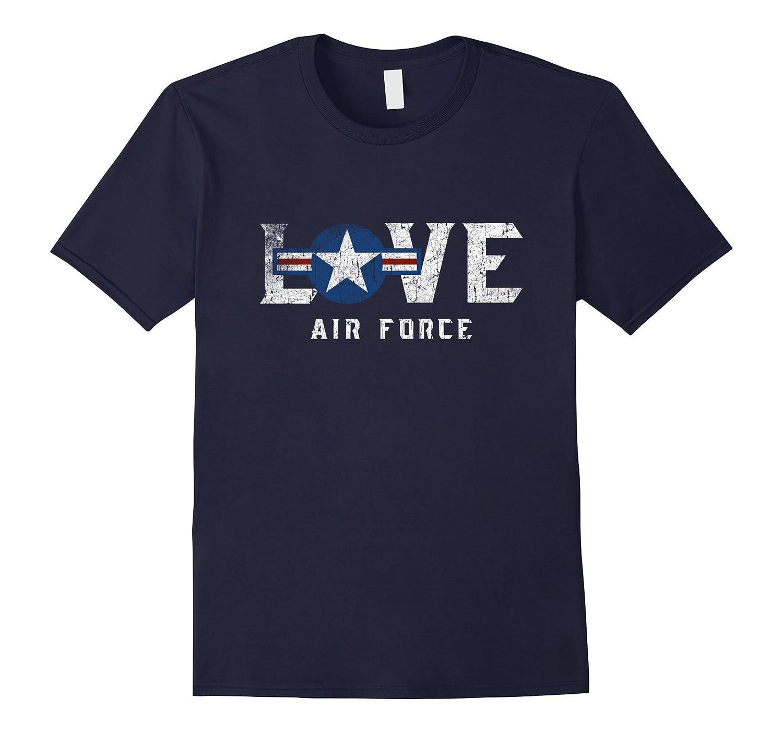 USAF Emblem Pride T Shirt Gift US Air Force Pilot Husband-TH