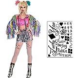 HQ Temporary Tattoos Sheet - Face, Waist, & Leg Tats - 16 Total - Costume / Cosplay