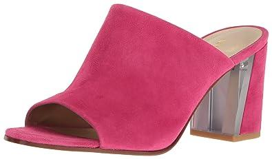 Nine West Women's Gemily Suede Mule, Pink, ...