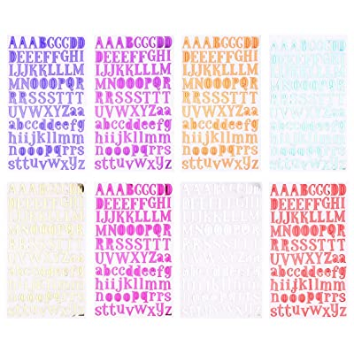 STOBOK 8 Sets Letter Alphabet Stickers Decals Cardstock Stickers Self Adhesive Sticker Sheets for DIY Scrapbook Birthday Card Craft: Baby