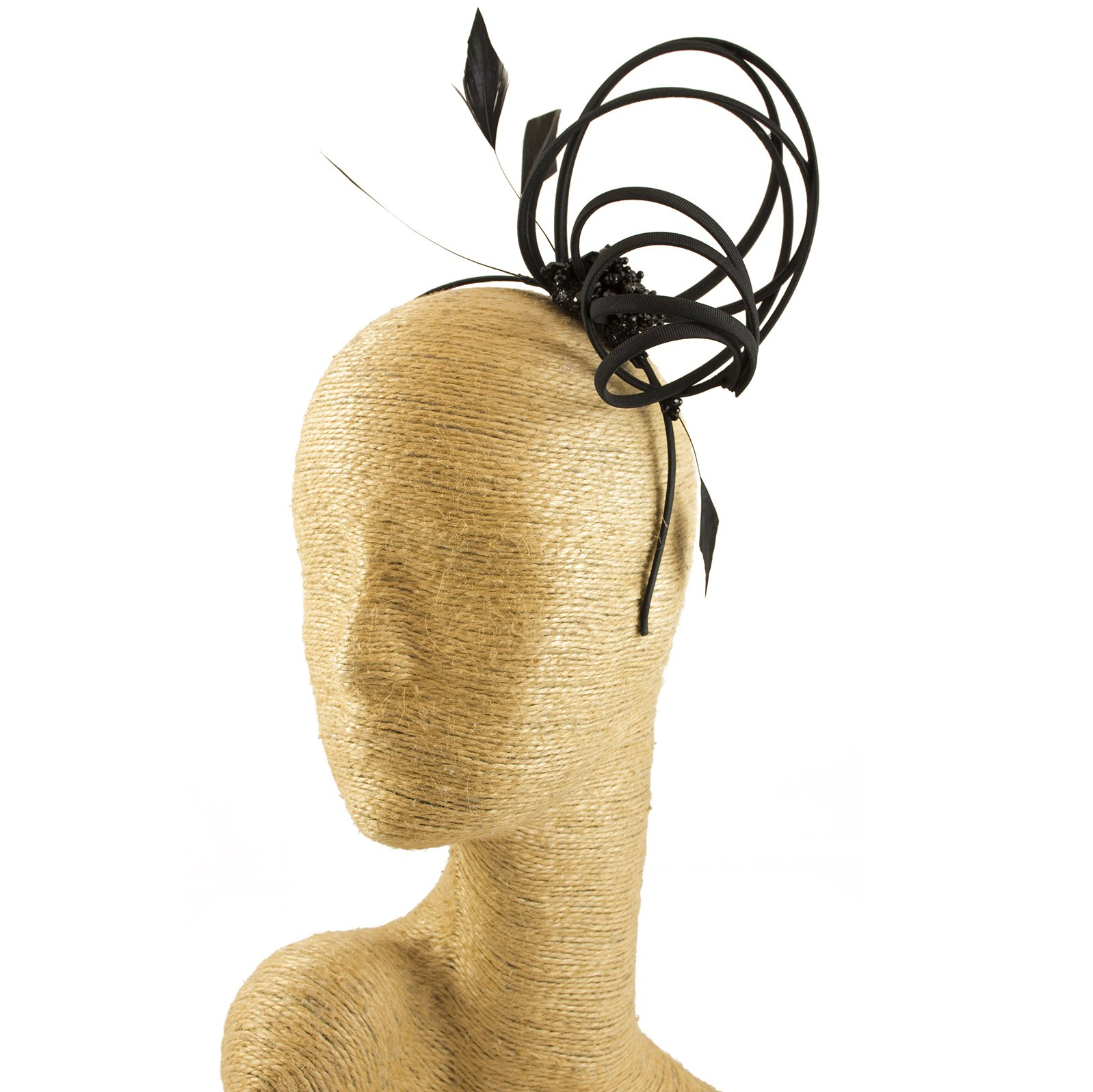 Black Fascinator, Feather, Headbands, Millinery, Worldwide Free Shipment, Delivery in 2 Days, Head wrap, Bohemian Accessories, Headpieces, Head dress, Kentucky Derby Hat, Gift Box