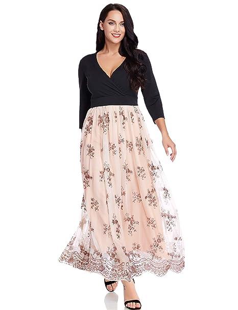 Amazon.com: GRAPENT vestido maxi largo para fiesta, traje de ...