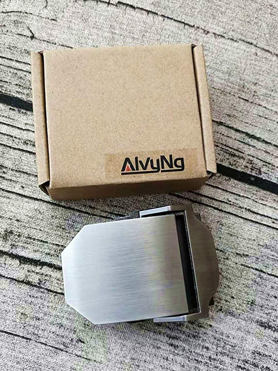 ALVYNG Mens Belt Buckles Military Automatic Adjustable Metal Buckle 1 1//2 38mm For Canvas Belt With Gift Box