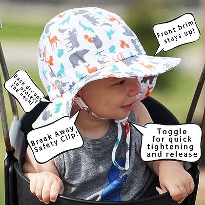 ff1ad8a7b47e5 ... Stay Twinklebelle Baby Boy Girl Vintage Bonnet Sun Hat 50 UPF