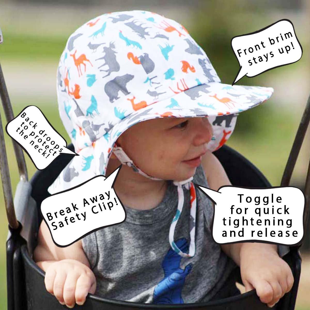60e35047a85c1 Amazon.com  Baby Toddler Kids Breathable Cotton Sun Hat 50 UPF ...
