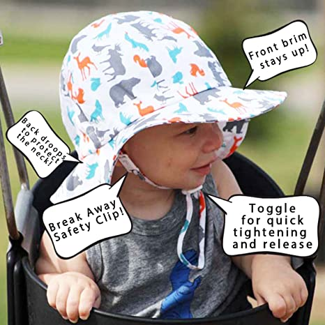 d12a9a8343a Twinklebelle Baby Toddler Kids Breathable Sun Hat 50 UPF Adjustable For  Grow