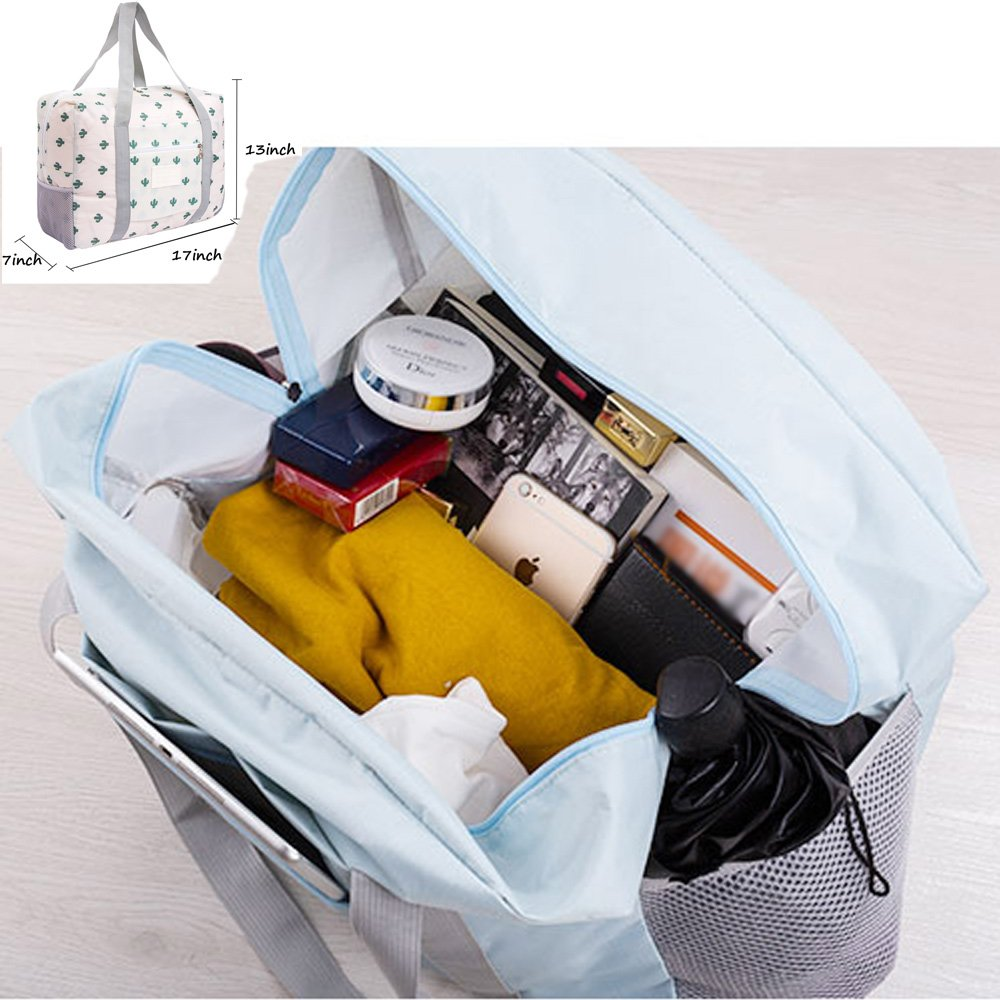 Foldable Travel Bag Tote Lightweight Waterproof Duffel Bag Carry Storage Luggage Portable Folding Bag by VAQM (cactus) by VAQM (Image #7)
