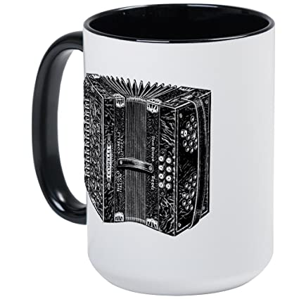 7a2aba519 Amazon.com: CafePress Vintage Accordion Large Mug Coffee Mug, Large 15 oz.  White Coffee Cup: Kitchen & Dining