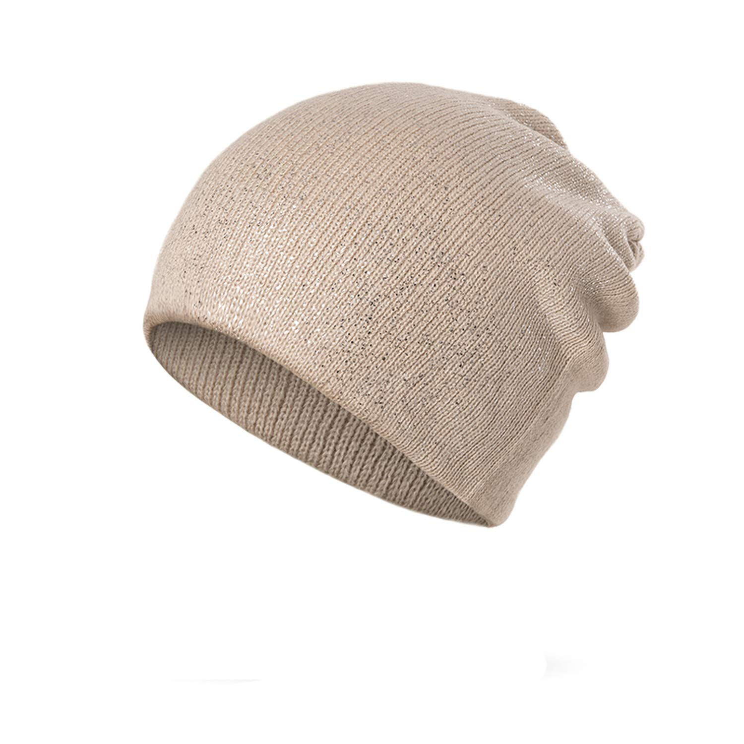 Ron Kite Skullies Beanies Knitted Winter Hat Shinning Beanies Girls Skullies Solid Color Hats