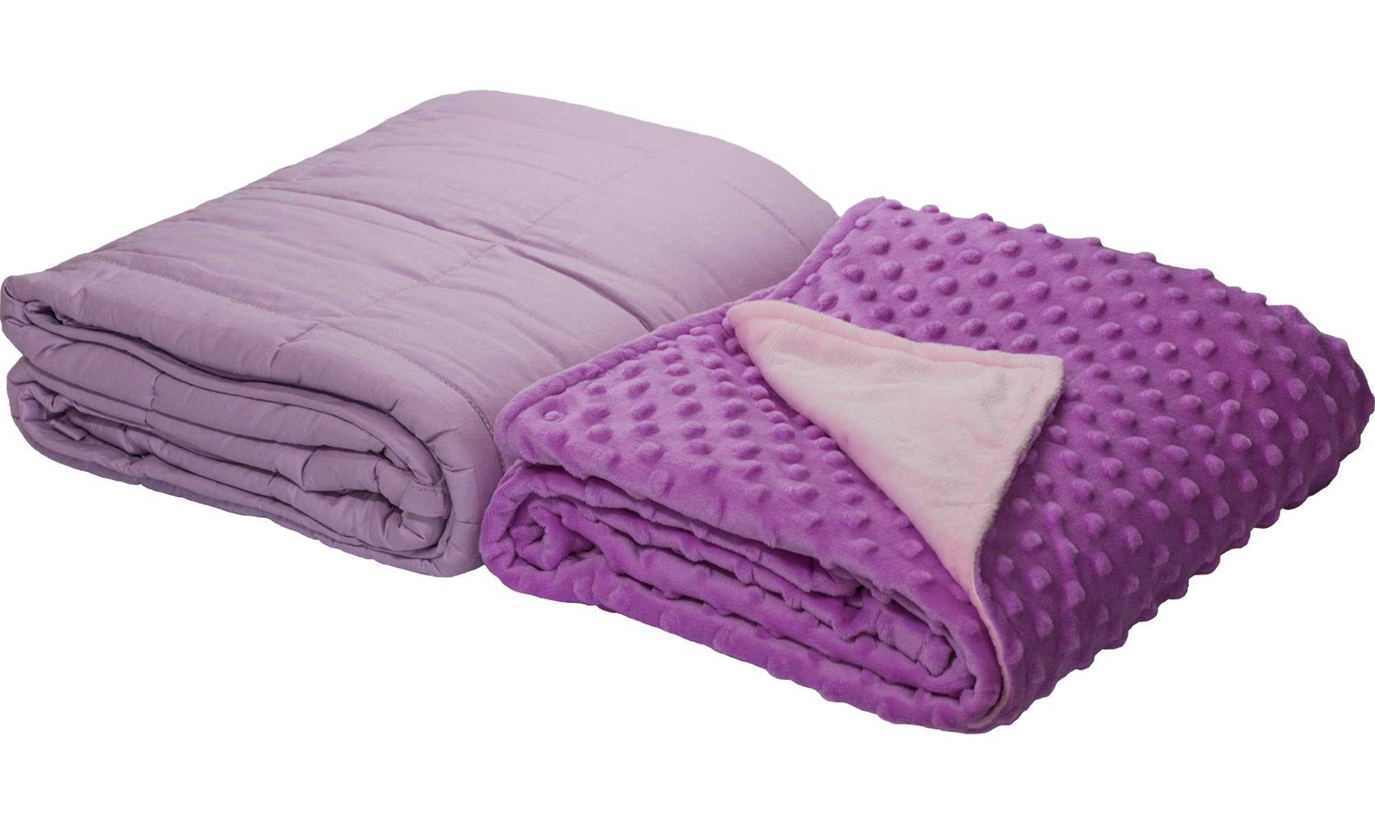 5lb Weighted Blanket with Dot Minky Cover for Kids 40-60lb Individual.Help Children with Sleep Issues Anxiety Stress Insomnia (Inner Light Violet/Cover Violet & Pink, 36''x48'' 5 lbs) by Loved Blanket (Image #4)