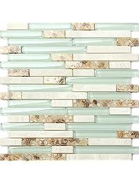 Glass Tiles | Amazon.com | Kitchen & Bath Fixtures - Kitchen ...