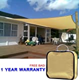 Quictent 20 x 16 ft Rectangle Sun Sail Shade Canopy Top Outdoor Cover Patio Garden w/Free Carry Bag- Sand