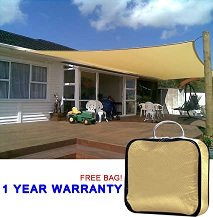 Quictent 20 X 16 Ft Rectangle Sun Sail Shade Canopy Top Outdoor Cover Patio  Garden W