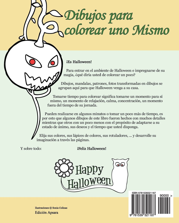 Amazon.com: Dibujos para colorear uno Mismo - Halloween - Volumen 1 ...