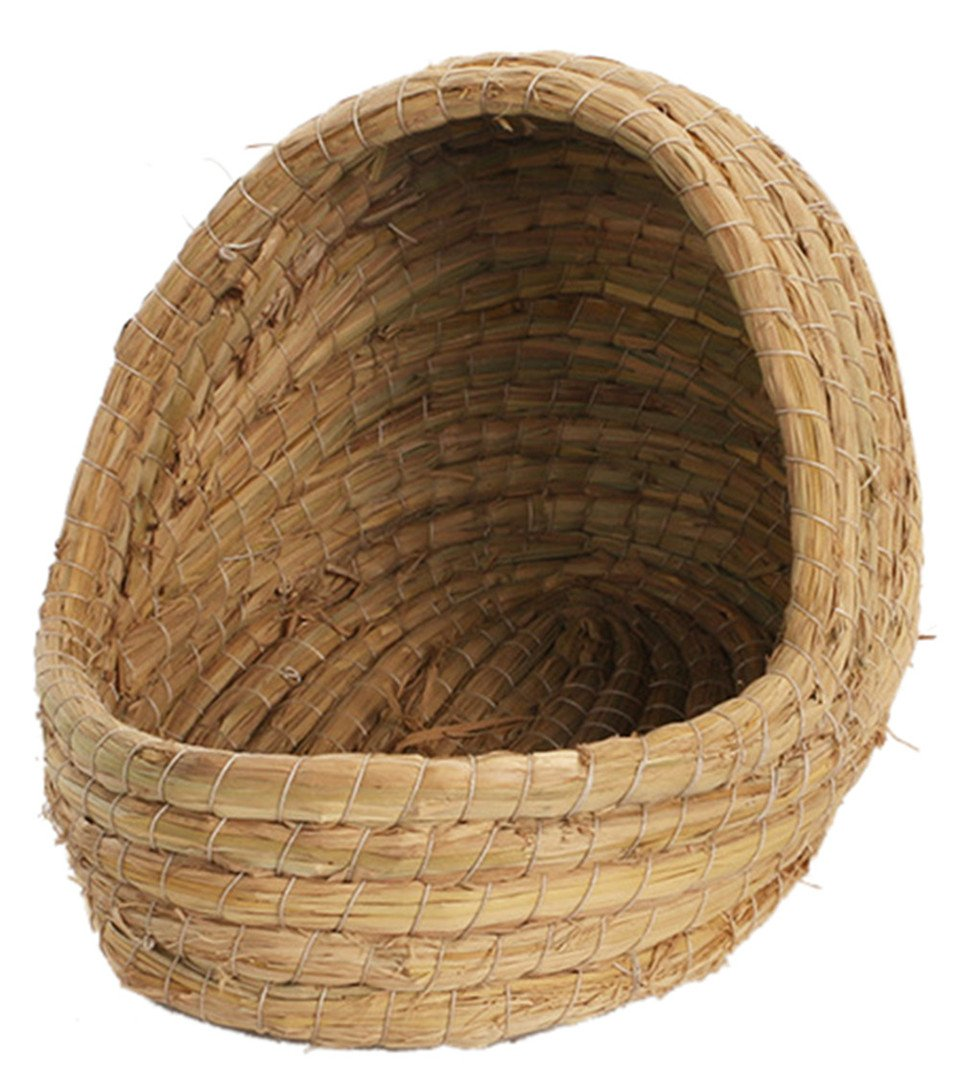 Insun Handwoven Petes Straw Nest for Rabbits Small Pest 7.9''7.5''10.6''