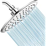 Baban Rainfall Shower Head,High Pressure 8 inch Large Rain Shower Head ABS Polish Chrome Finish with Filter to Anti-clog Anti