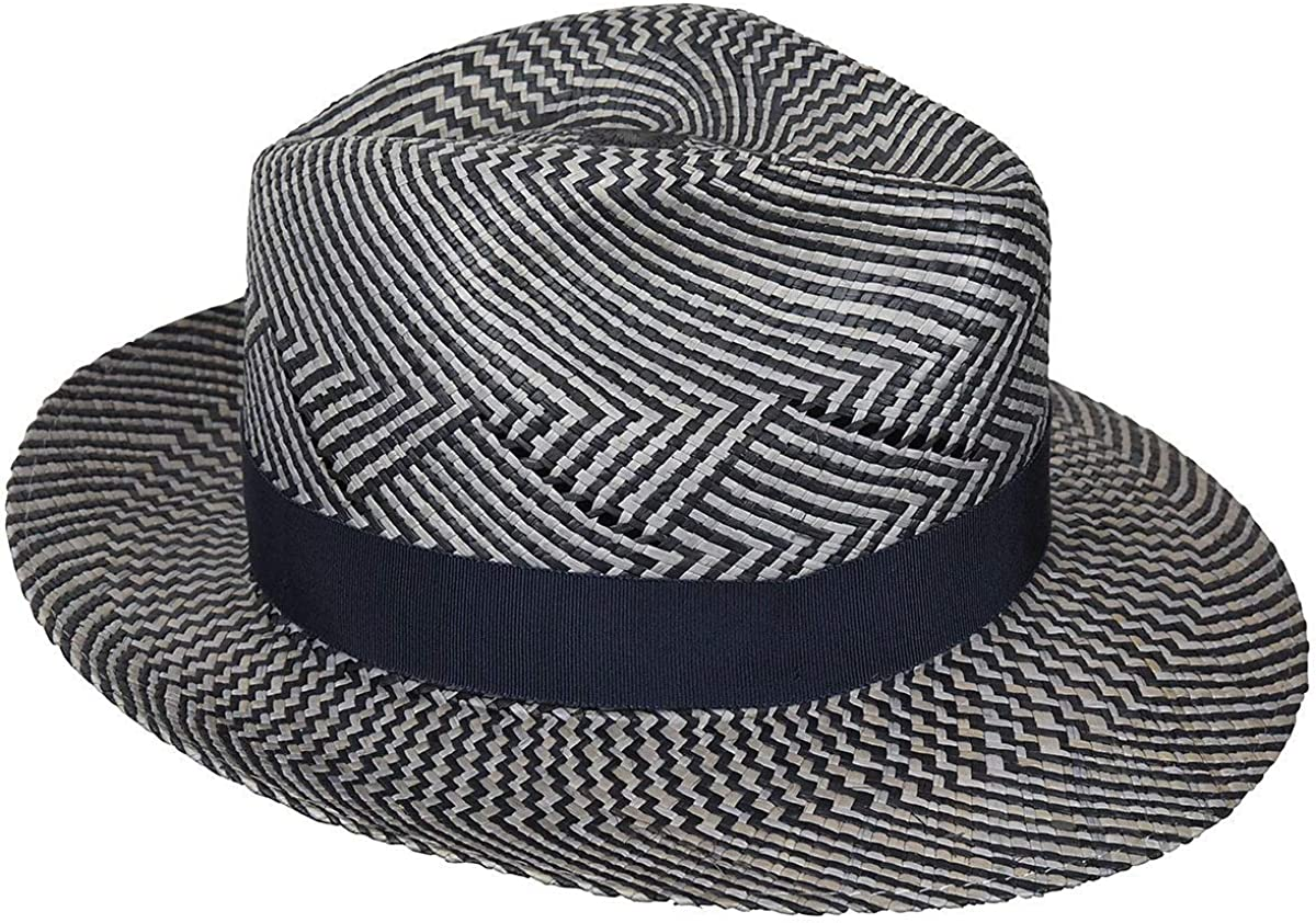 Hats.com Shades of Blue Fedora Exclusive Blue Mix M