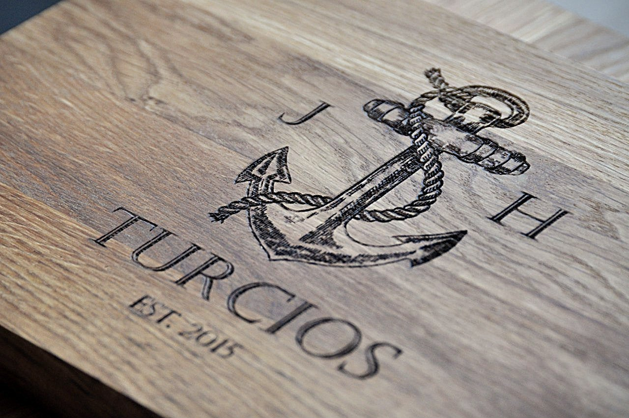 Anchor Nautical Design Personalized Engraved Cutting Board family custom Wedding Gift, Anniversary Gifts, Housewarming Gift, Birthday custom04