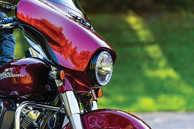 Kuryakyn 2249 Motorrad Beleuchtung 17 8 Cm Dot Konform Phase 7 Led Scheinwerfer Mit Stoßfester Linse Für Harley Davidson Indian Yamaha Motorräder Auto