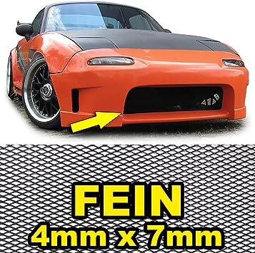 Tenzo R 38284 Aluminium Gitter Renngitter Wabengitter Racegitter 150x30cm 4x7mm Schwarz Auto