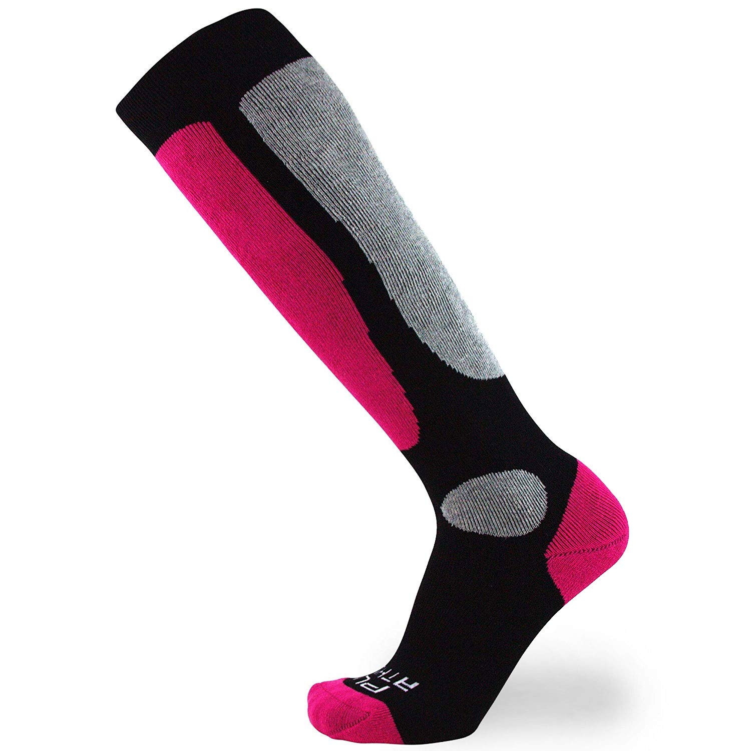 Value Ski Socks for Men and Women - Snowboarding, Winter, Cold Weather (S/M, 1 Pair - Neon Pink) by Pure Athlete