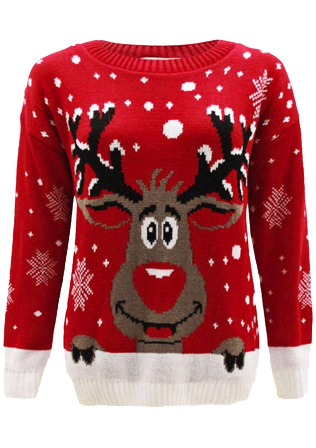 New Children Kids Boys Girls Knitted Retro Novelty Christmas Xmas Jumper Age 3-12 Years