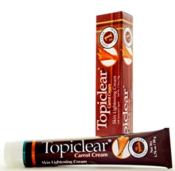 TOPICLEAR Skin Lightening Carrot Cream Crema Blanqueadora con Zanahoria 1.76oz Good Product quality!