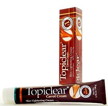 TOPICLEAR Skin Lightening Carrot Cream Crema Blanqueadora con Zanahoria 1.76oz Good Product quality!