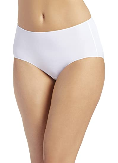 9547314e4260 Jockey Women's No Panty Line Promise Tactel Hip Brief, White, XX-Large / 8  at Amazon Women's Clothing store: Hipster Panties