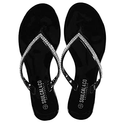 9605e0364 Soul Cal Womens Jelly Sandals Black UK 6 (39)  Amazon.co.uk  Shoes   Bags