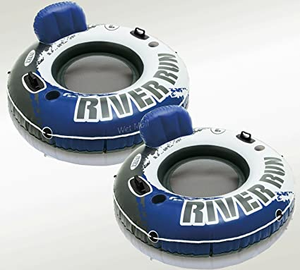 INTEX River Run XL Inflatable w// Dry Storage Quick Connectors /& Cup Holder