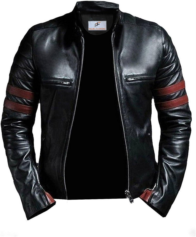 Figura Fashionz Tough Look Biker Leather Jacket for Men