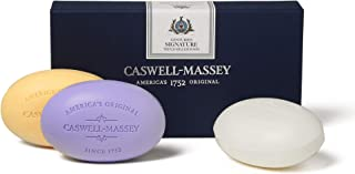product image for Caswell-Massey Triple Milled Luxury Bath Soap Signature Gift Set - Almond, Lavender, and Verbena - 5.8 Ounces Each, 3 Bars