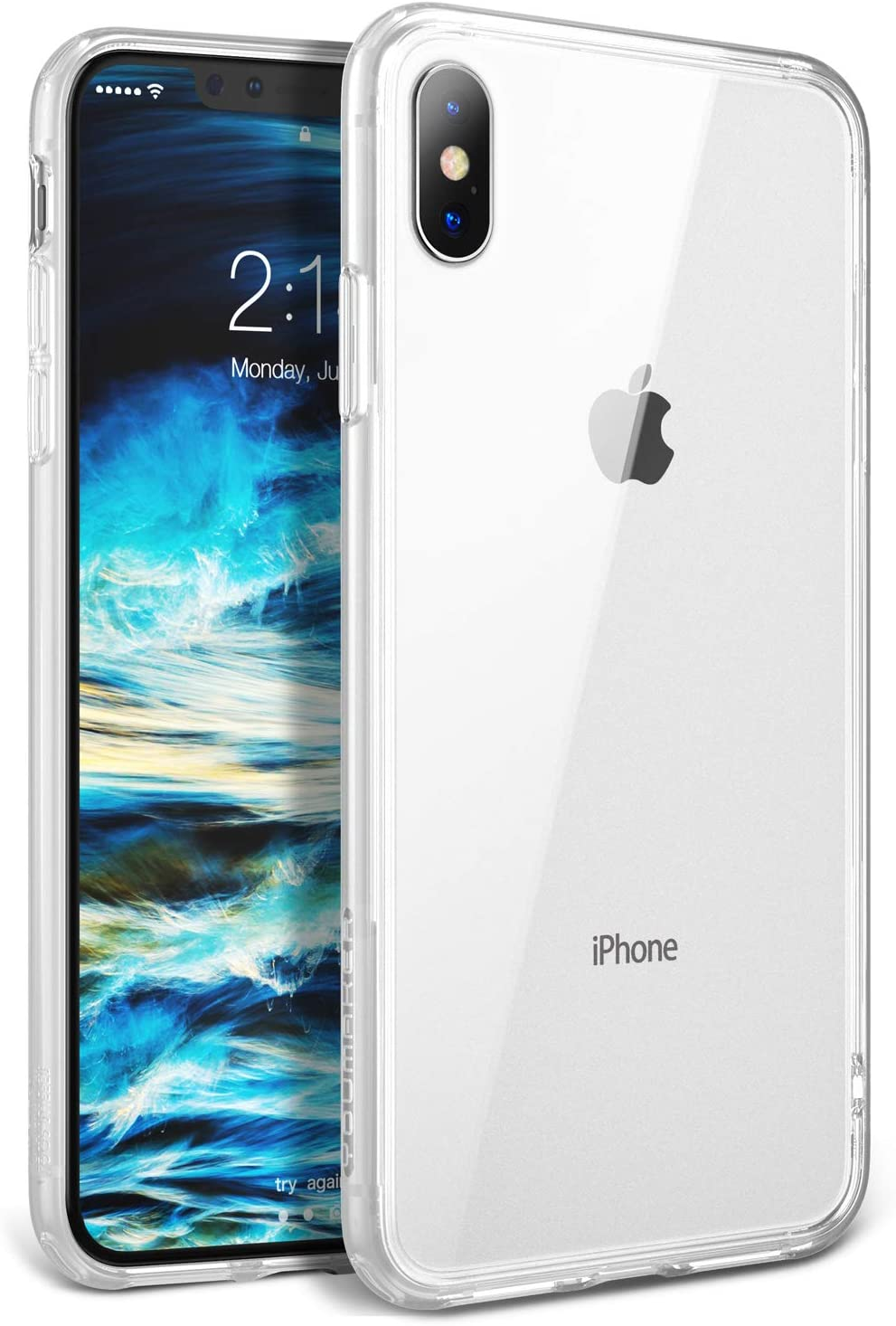 YOUMAKER Premium Crystal Clear Hybrid Case for iPhone Xs Max, Slim Fit Lightweight Frosted Clear Bumper Scratch Resistant Drop Protection Shockproof Protective Cover for All New Apple iPhone Xs Max 6.